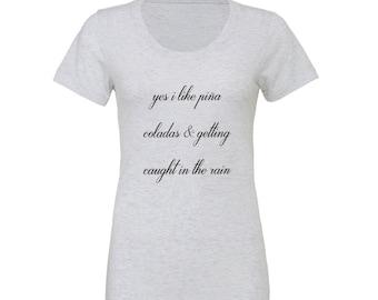 Piña Colada Womens' Graphic Tee Shirt - FREE SHIPPING!