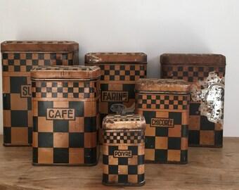 LUSTUCRU Chequered Kitchen Canister Set