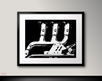 Black and white Triumph motorcycle art, Black and white art, Motorcycle print, Graphic art print,Motorcycle poster,Black print,Black artwork
