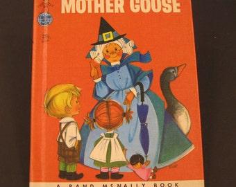 MOTHER GOOSE vintage Tip Top Elf Rand McNally nursery rhymes Anne Sellers Leaf 1958 Nice!!