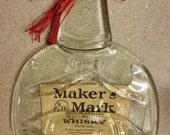 Slumped Maker's Mark Whiskey Bottle