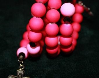 36 - Pink rosary bracelet
