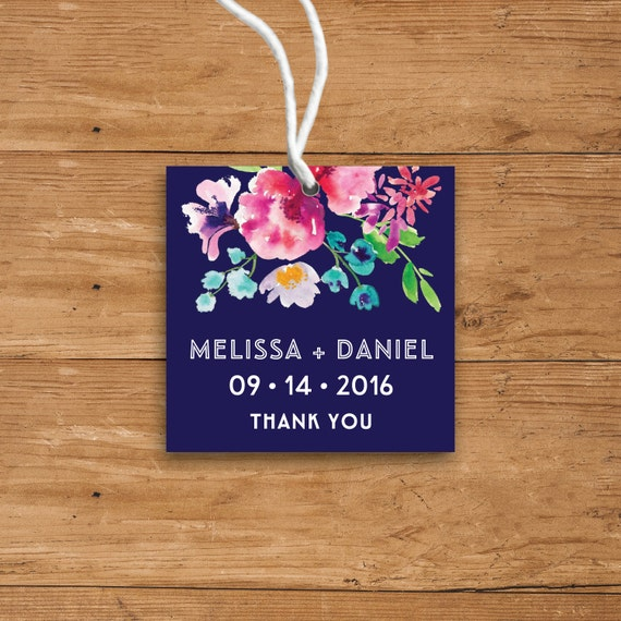Printable Favor Tags Template Floral Wedding Thank You Tags ...