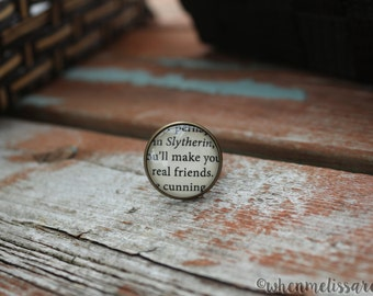 House pride cunning ring 3 - Potterhead ring - Wizard ring - Potterhead quote ring - cunning