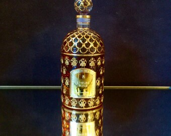 L'heure Bleue Guerlain perfume Bee Bottle Eau De Parfum 250 ml 8.5 oz hand painted gold leaf Bee Bottle