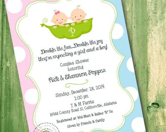Double Baby Shower Invitations Gangcraft Net