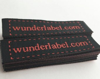 Iron-on labels - Woven Frame Text & Symbol  only 20 USD for 50 Labels iron on woven label iron on personalized label iron on name tag