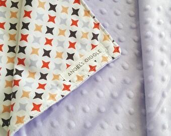 Baby blanket / Pram, Stroller blanket / minky baby blanket