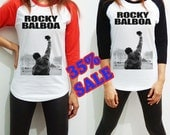 Rocky Balboa Shirt Clothing Movie Vingate Poster Long Sleeve Raglan Baseball Women Men Tee Tshirt