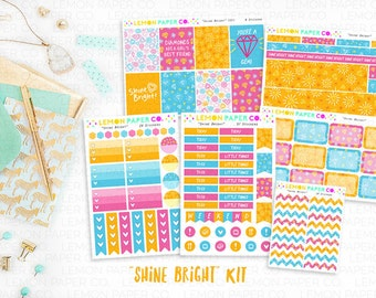 Shine Bright // Weekly Kit (Planner Stickers)