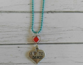 Dance Necklace// Custom Sports Necklace// Dance Gift// Girls Sports Necklace// Choose Sports Charm, Chain Color & Crystal
