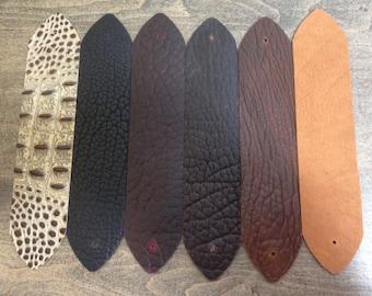 Variety Pack Bison Leather Bracelet Blanks (6)