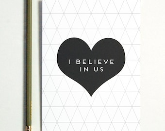 I Believe In Us Greeting Card, long distance boyfriend gift, boyfriend gift, long distance relationship, boyfiend gifts