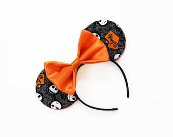 Jack Skellington Head Halloween Mouse Ears