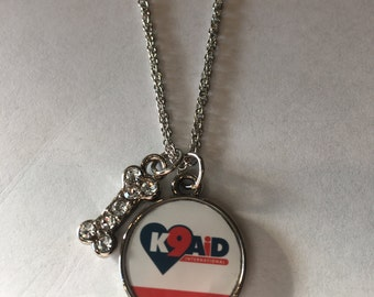 Dog Rescue Logo Necklace - K9Aid