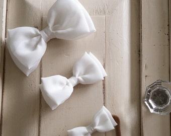 White Chiffon Bow