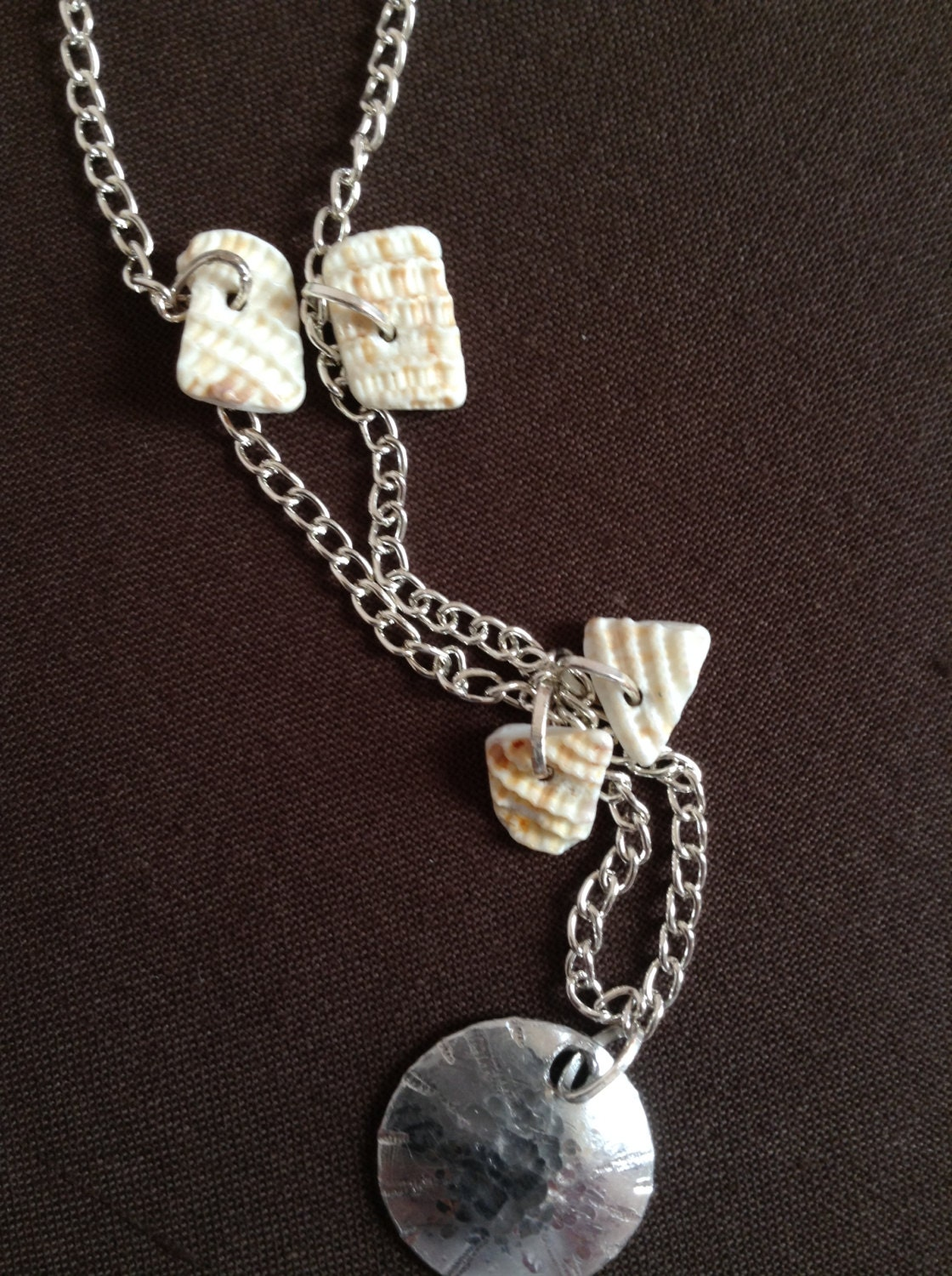 Women 39 s beach necklace sand dollar necklace seashell for Sell gold jewelry seattle