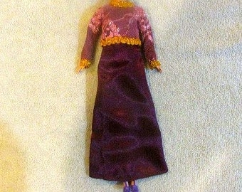 Modest Barbie Clothes, Modest Barbie Dress, Jacket-Scarf-Gown-Pants-Shoes, Modest Barbie Gown, Girl's Birthday Gift, Birthday Barbie Doll