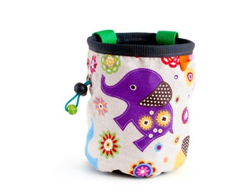 Sport Climbing Chalk Bag. Climbing Chalk Purse for Rock Climbing. Large Chalk Bag, L Size