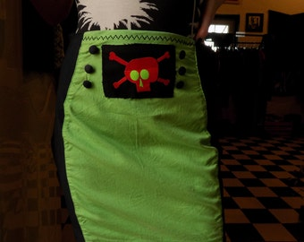 Toxic green Skull Skirt