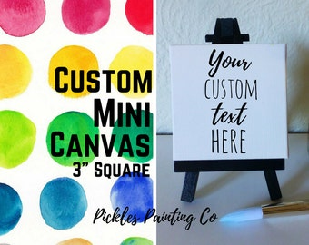 Custom Square Mini Canvas