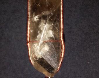 Simple Smoky Quartz Crystal Pendant