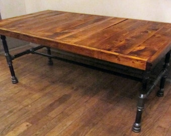 Industrial coffee table. Rustic Coffee Table.primitive shabby chic reclaimed wood