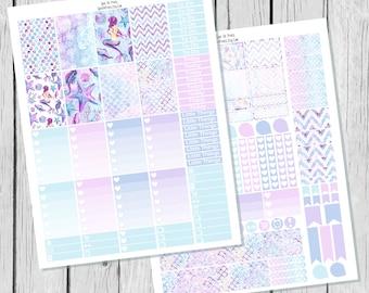 Mermaid Planner Sticker Happy Planner Printable / Happy Planner Sticker Printable / Printable Planner Stickers / Weekly Sticker Kit