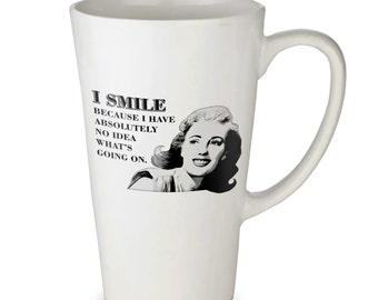 Smile latte mug