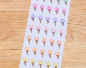 Ice Cream Cone /  Junk Food / Cheat Day / Food / Sugar / Sunshine / Summer Planner Stickers - 016