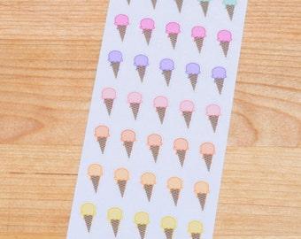 Ice Cream Cone Planner Stickers - 016