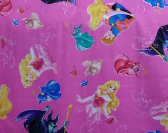 Disney Sleeping Beauty Toss Fabric / By the Yard/ Cotton