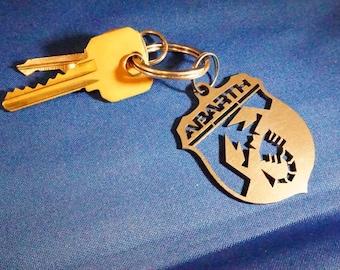 FIAT Abarth Titanium Keychain