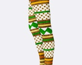 Thanksgiving Leggings. Polka Dot Turkey Striped Leggings. Holiday Yoga Pants. Womens Printed Tights