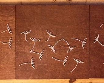 "Dandelion ""LOVE"" String Art - 3 Panels"
