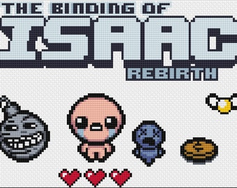 The Binding of Isaac Rebirth Cross Stitch Pattern