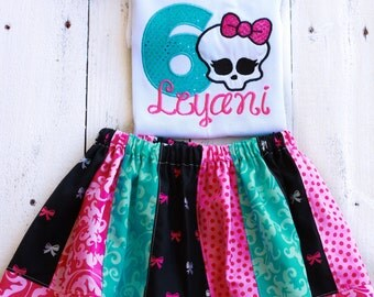 Monster High inspired Birthday Outfit-Personalized