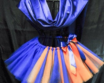 Florida Gator Spirit Skirt   READY TO SHIP !!! 1-2 business days...Can be custom made with any colors...