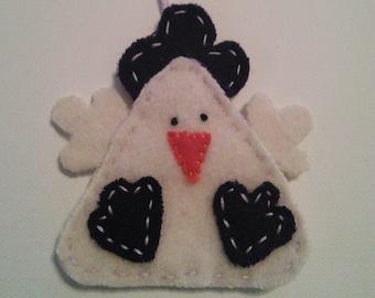 Easter Chicken ornament/purple