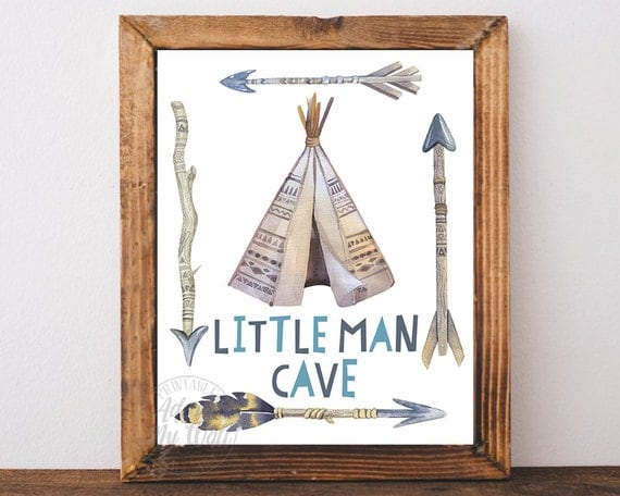 Small Man Made Cave : Little man cave instant download boys room baby boy