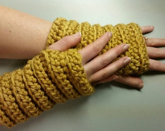 Chunky Ribbed Wristers // Textured Fingerless Gloves // Ribbed Arm Warmers // Gifts for Her // Gifts for Coworker // Fall Fashion