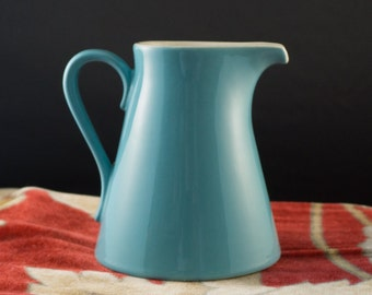 MCM Mid Century Salem Northstar Aqua Turquoise Blue Teal Creamer Syrup Pitcher