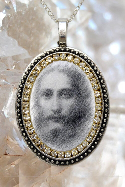 jesus christ handmade necklace religious christian jewelry