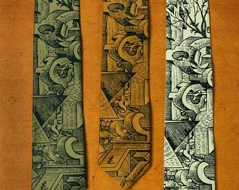 Surreal Necktie - Surrealism Art - Unique Neck Tie - Weird Gift - Men's Gift