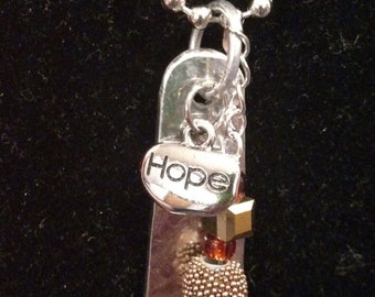 Coppery Hope Spoon Necklace