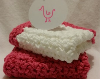 Pretty in Pink Washcloths (set of 2)