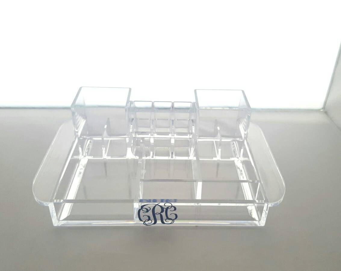 Acrylic makeup tray vanity bathroom tray makeup for Bathroom tray