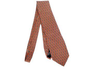 Vintage 80s Tie - Vintage Gucci Tie - Paolo Gucci Tie - Gucci Horsebit - Red Blue Yellow Tie - 80s Gucci - 80s Horsebit - Gucci Silk Tie