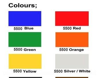 "5 Sheets Reflective Vinyl - Oralite 5500 - 9.8"" x 7.8"" (25 x 20 cm) - 10% OFF! 8 colors available. Decal Vinyl, Adhesive Vinyl, Craft Vinyl"