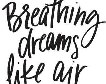 Breathing Dreams Like Air 8x10 Print